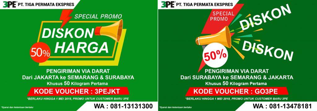 Promo harga pengiriman barang murah 3PE