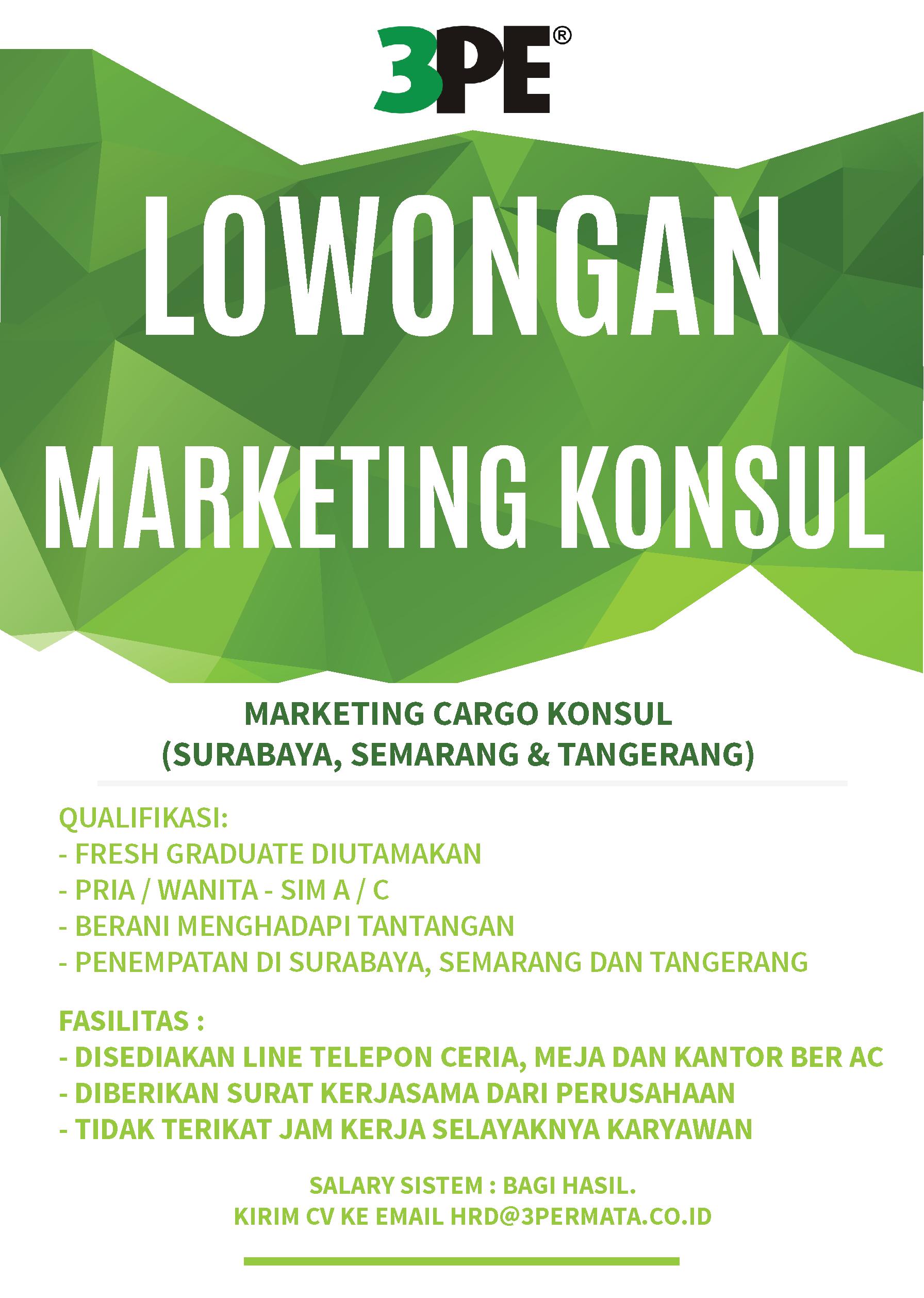 Lowongan Marketing Konsul