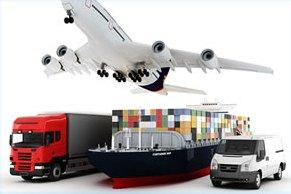 Jasa pengiriman barang via darat, laut, udara