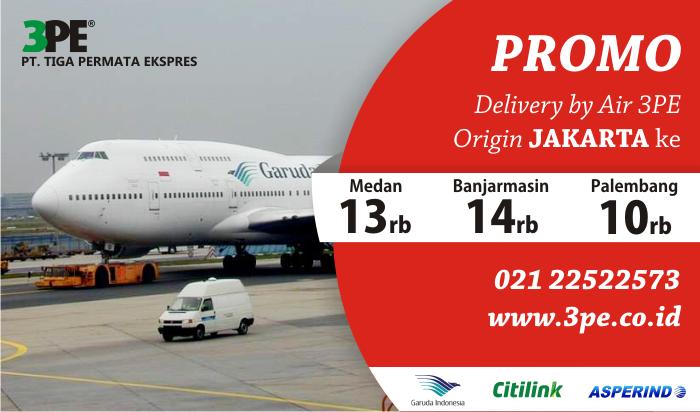 Tarif Pengiriman 3PE via Udara Origin Jakarta