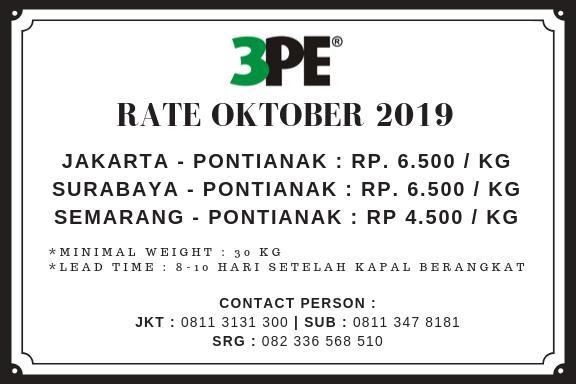 Informasi Ongkir dari Surabaya ke Pontianak Via Jalur Laut - Tiga Permata Ekspres