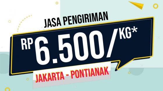 Biaya Pengiriman Barang Jakarta ke Pontianak Oktober 2019