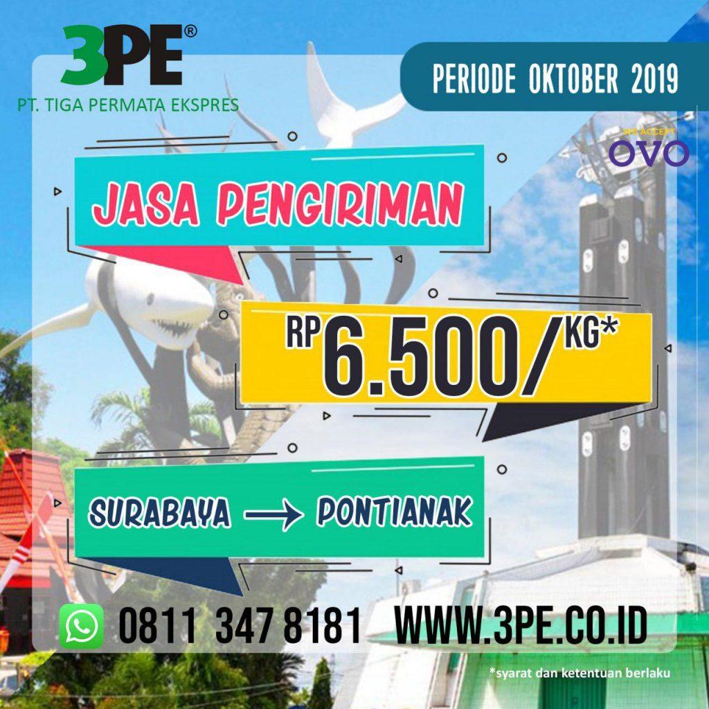 Ekspedisi Pengiriman Barang Surabaya Pontianak