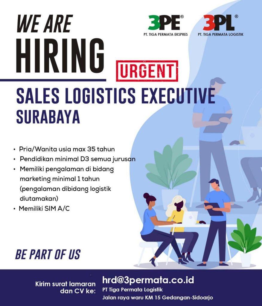 loker surabaya sales logistics executive agustus 2020