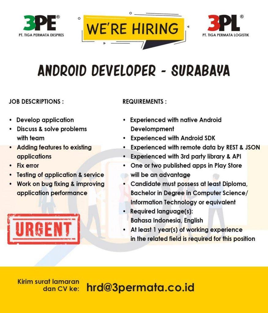 loker surabaya android developer agustus 2020
